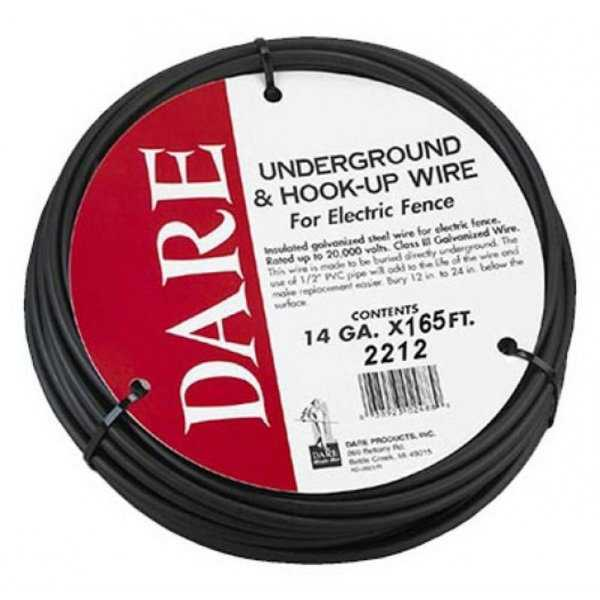 Dare 2212 Underground & Hook-Up Wire for Electric Fence, 14-Gauge x 165'