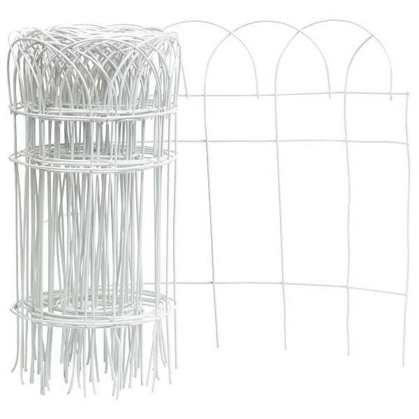 Panacea 89307 Flower Border Fence Roll, 14' x 20', White