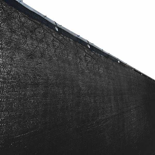 ALEKO 5'x50' Fence Privacy Windscreen Mesh Black Fabric with Grommets