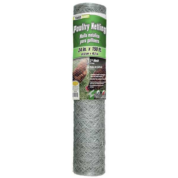 Yard Gard 308494B 24 inches x 150 feet 2 Inches Mesh Hexagonal Poultry Netting