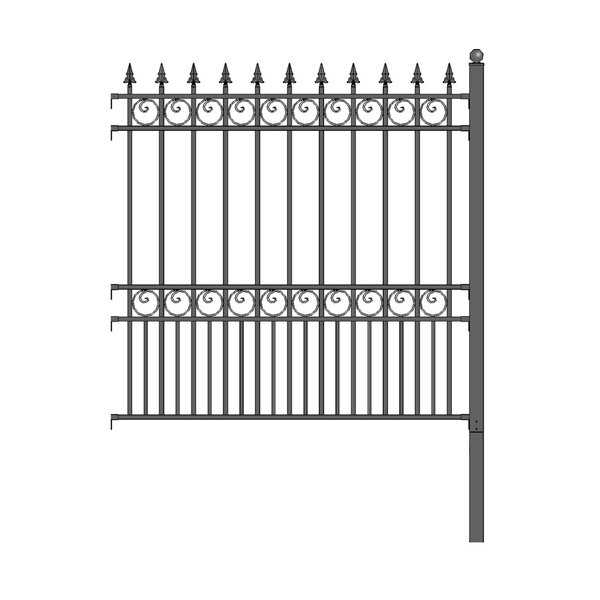 ALEKO London Style DIY Iron Wrought Steel Fence 5.5 X 5 Feet