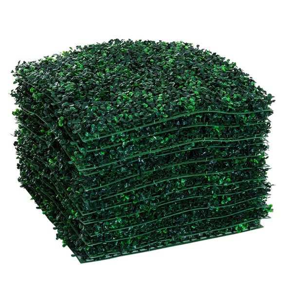 Outsunny 12 Piece 20' x 20' Artificial Boxwood Hedge Mat Plant Panels - Boxwood