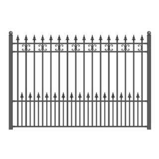 ALEKO St. Petersburg Style DIY Iron Steel Ornamental Fence 5.5' X 5'