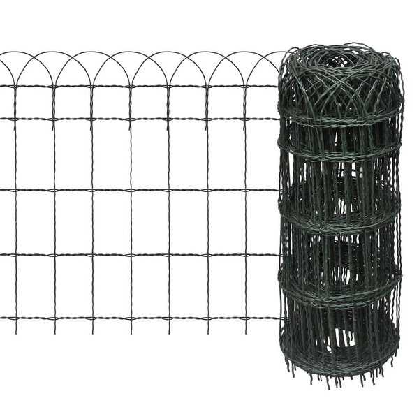 vidaXL Expandable Garden Lawn Edging Border Fence 82ft x 25.6'