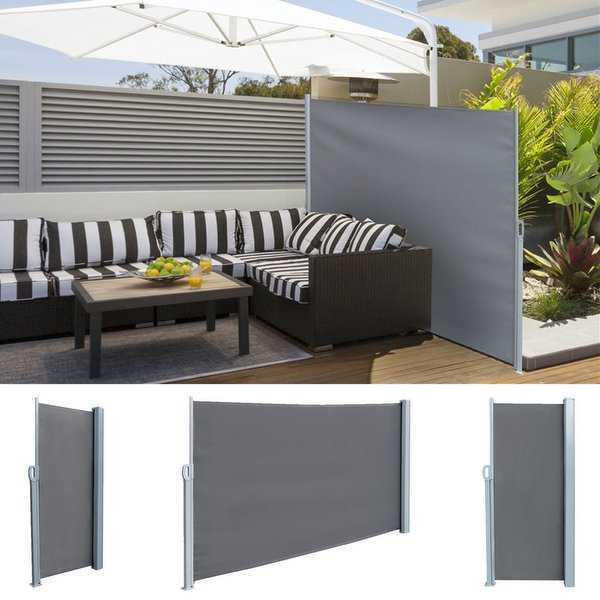 Real 5.9' x 9.8' Retractable Side Awning Outdoor Patio Privacy Sunshade Divider Screen