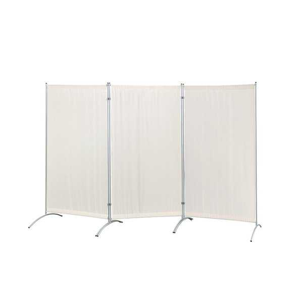 Galaxy Indoor 3-panel Room Divider (Beige) with Metal tubing Frame and Water Resistant Fabric