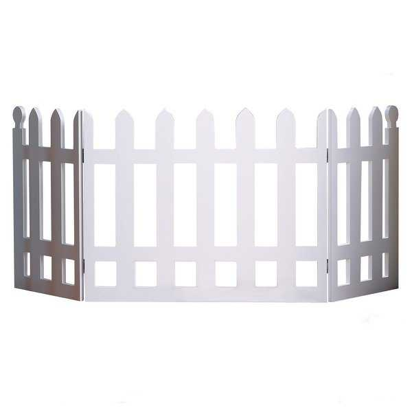 White Picket Fence Folding Pet Gate Indoor/Outdoor - 19' High X 42' Long - 19 in. x 42 in.